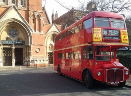 Red London Bus for weddings in Croydon